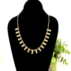 J. CREW gold and crystal statement necklace NWT
